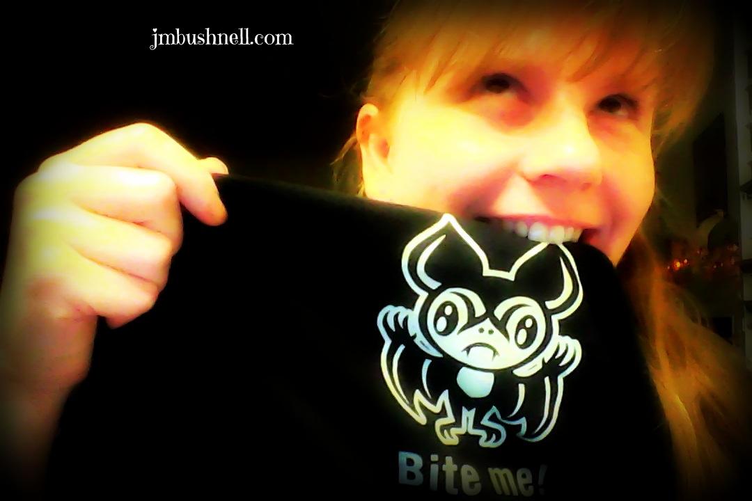 Bite Me T-shirt Jeannie M Bushnell