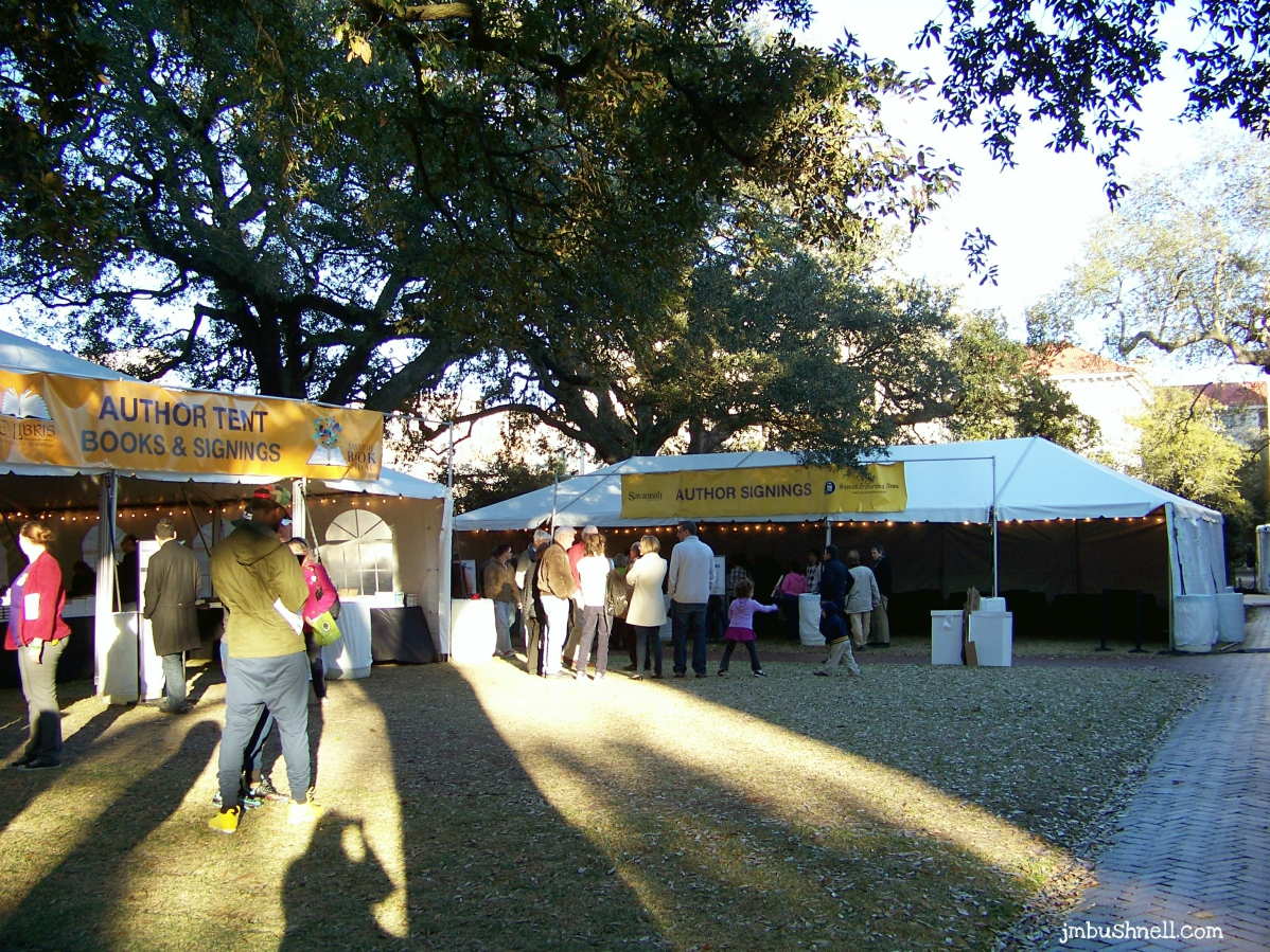 Author Signing Tent- Savannah, Georgia