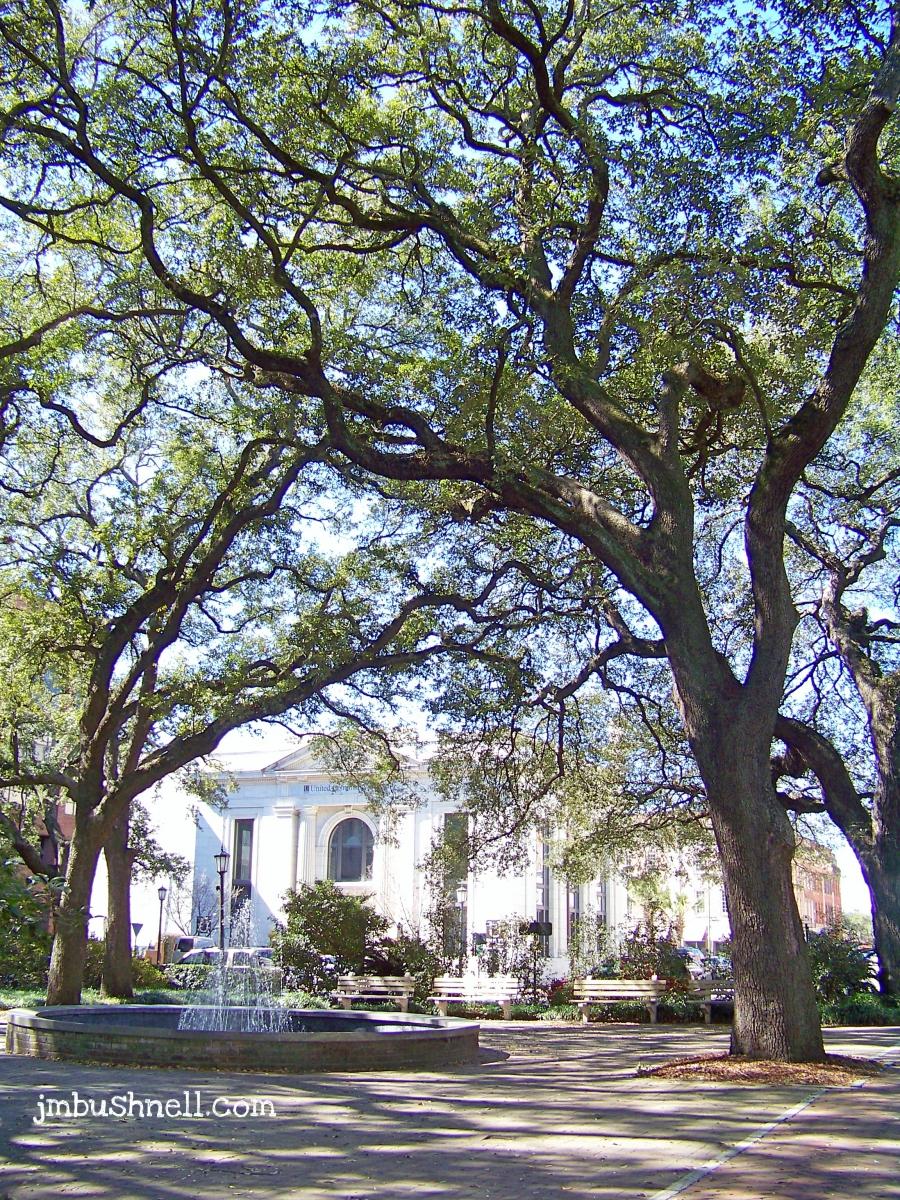 Fountain in Historic Savannah, Georgia