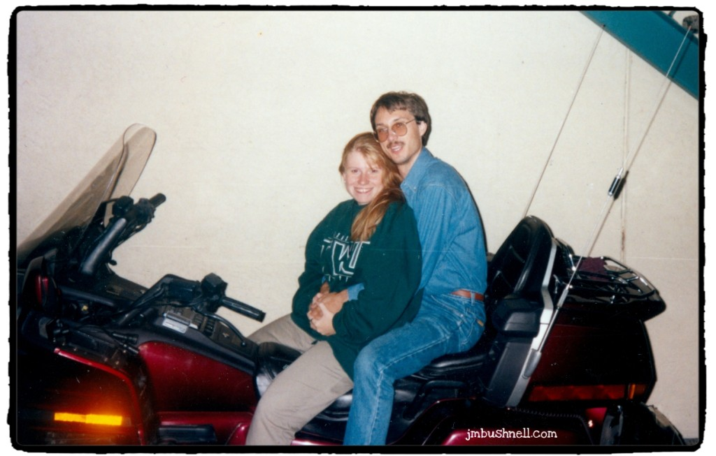 Jeannie and her husband on his beloved Goldwing.