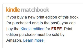 kindle matchbook program