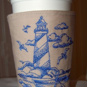 Lighthouse Embroidery Cozy