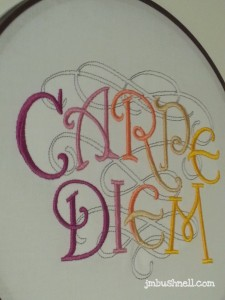 carpe diem embroidery