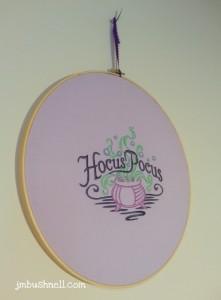 Hocus Pocus Embroidery Hoop