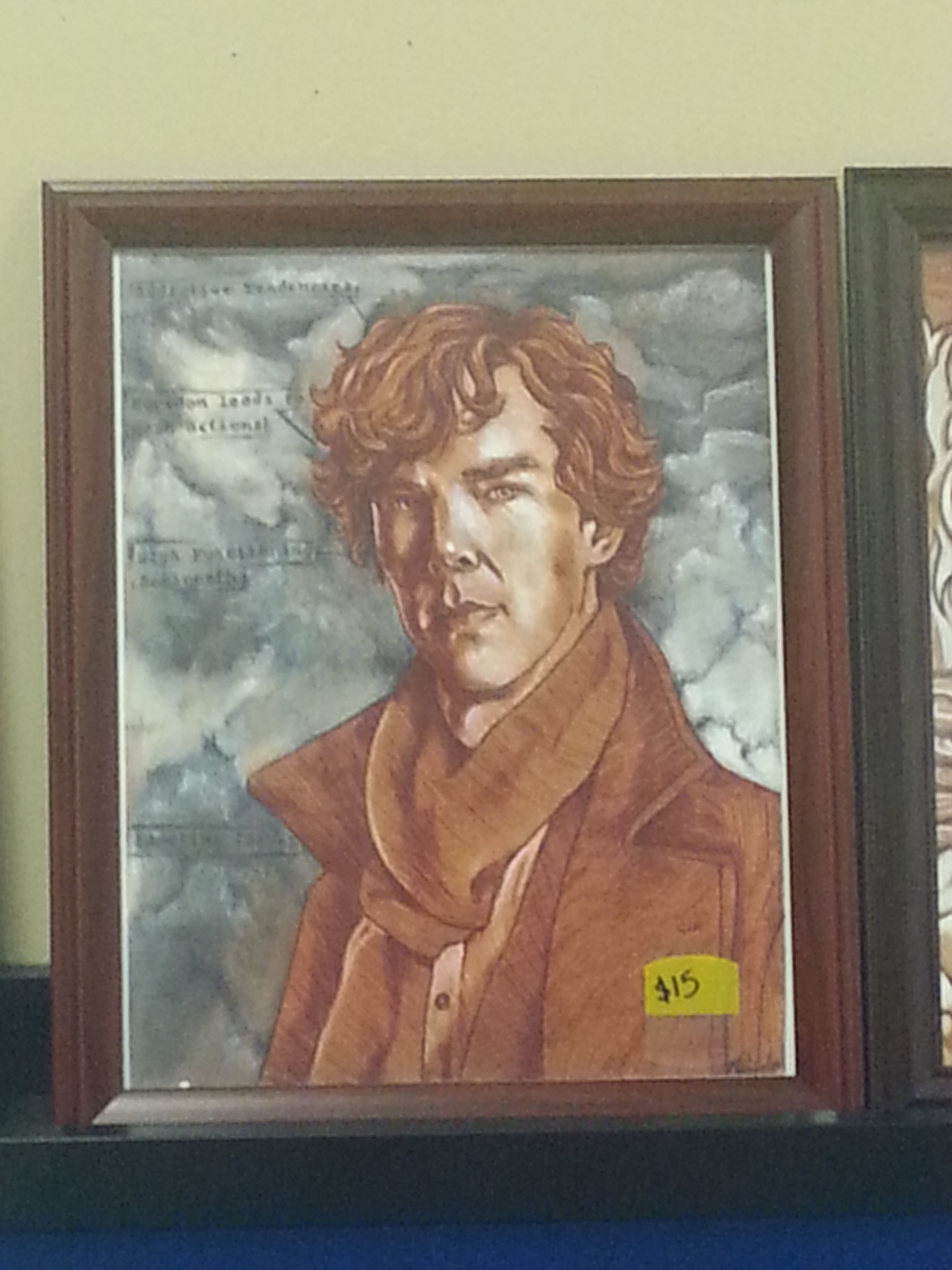 Sherlock drawing Cumberbatch