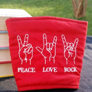 Peace Love Rock Sign Language Cozy