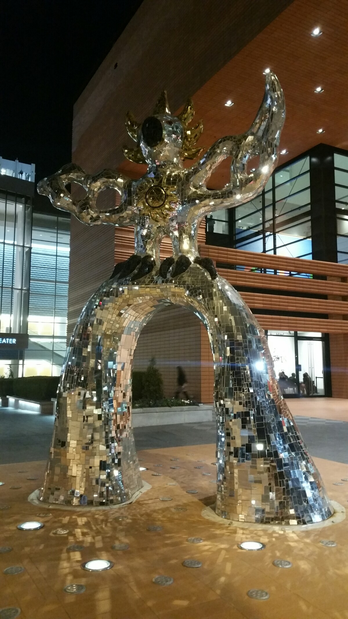 Photo of the Firebird at the Bechtler Museum in Charlotte, North Carolina