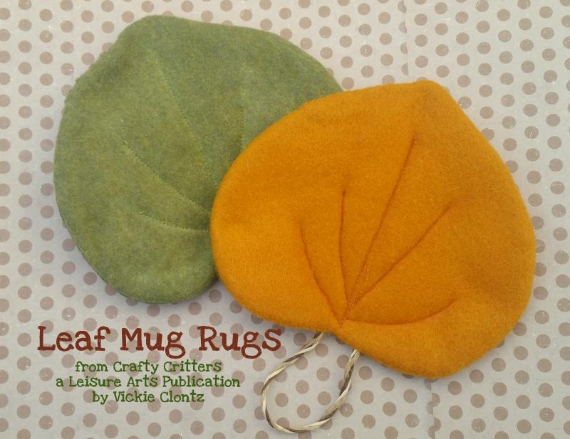felt leaf mug rugs